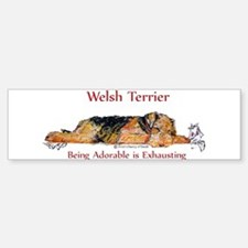 Exhausted Welsh Terrier Bumper Bumper Sticker