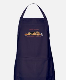 Exhausted Welsh Terrier Apron (dark)