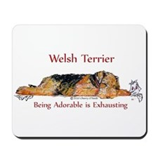 Exhausted Welsh Terrier Mousepad