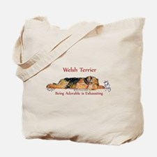 Exhausted Welsh Terrier Tote Bag
