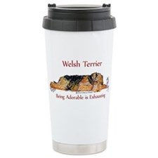 Exhausted Welsh Terrier Travel Mug