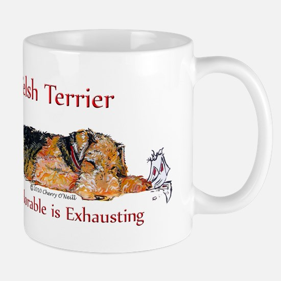 Exhausted Welsh Terrier Mug