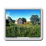 Barn, horses, Monroe County, Iowa, Mousepad