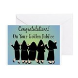 Nuns golden jubilee Greeting Cards