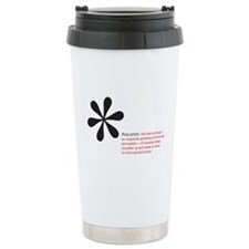 Read the Fine Print Travel Mug
