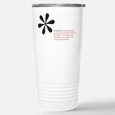 Read the Fine Print Travel Mug