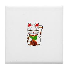 Lucky Cat Tile Coaster