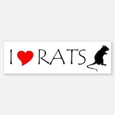RAT LOVE Bumper Bumper Bumper Sticker