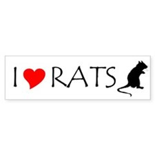 RAT LOVE Bumper Car Sticker