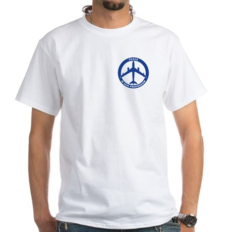 B-47 Peace Sign White T-Shirt