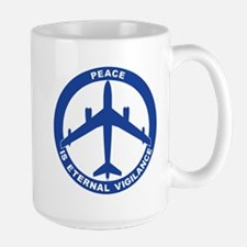 B-47 Peace Sign Large Mug