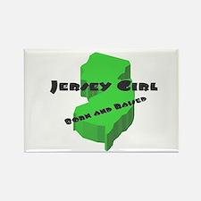 Jersey Girl, Born & Raised Rectangle Magnet