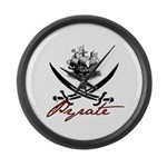 Elizabethan Pyrate Insignia Large Wall Clock