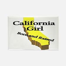 California Girl, Born & Raise Rectangle Magnet