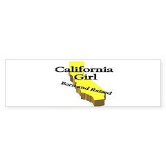 California Girl, Born & Raise Bumper Bumper Sticker