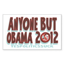 Anyone But Obama Decal