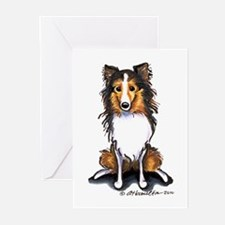 Sable Sheltie Lover Greeting Cards (Pk of 10)