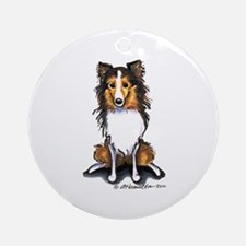Sable Sheltie Lover Ornament (Round)
