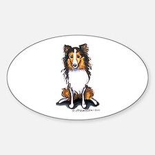 Sable Sheltie Lover Sticker (Oval)