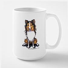Sable Sheltie Lover Large Mug