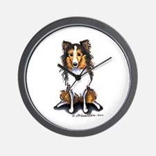 Sable Sheltie Lover Wall Clock