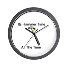 Cute Hammer time Wall Clock