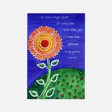 Colorful Sunflower Watercolor Poster Print
