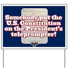 Constitutional Teleprompter Yard Sign