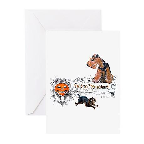 Welsh Terrier Halloween Greeting Cards (Pk of 20)