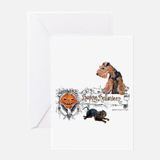 Welsh Terrier Halloween Greeting Card