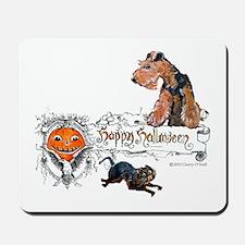 Welsh Terrier Halloween Mousepad