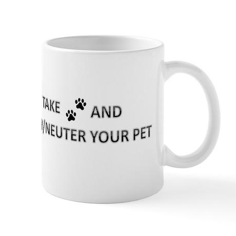 Take 'Paws' And Spay/Neuter Y Mug