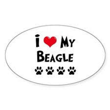 I Love My Beagle Decal