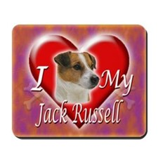 I Love My Jack Russell Mousepad