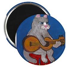 "Cat on Guitar 2.25"" Magnet (10 pack)"