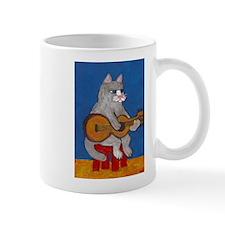 Cat on Guitar Mug
