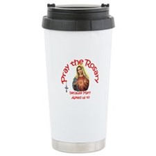 Pray the Rosary - Thermos Mug Hot/C