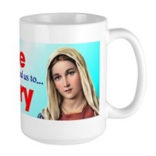 Pray the Rosary - Large Coffee Mug (c)