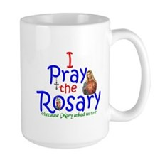 Pray the Rosary - Large Coffee Mug (a)