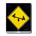 SIGNS Mousepad, Teeter Totter sign