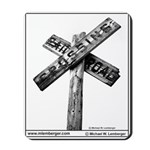 SIGNS Mousepad, Railroad Crossing Sign, RR SIGN