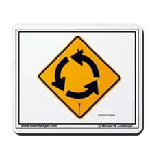 SIGNS Mousepad, ROUNDABOUT SIGN