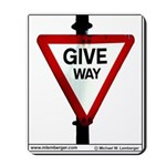 SIGNS Mousepad,GIVE WAY, YIELD,