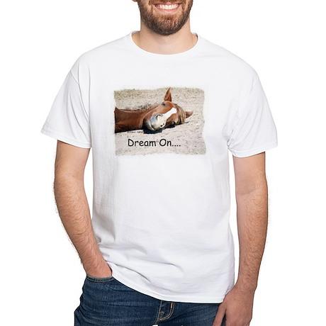 Dream On Sleeping Horse White T-Shirt