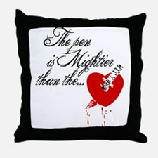 The pen is not mightier Throw Pillow