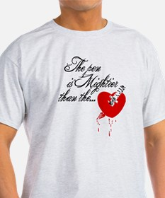 The pen is not mightier T-Shirt