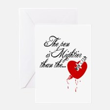 The pen is not mightier Greeting Card