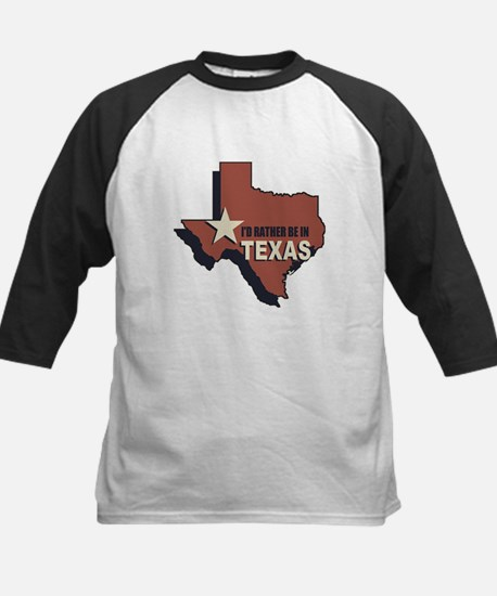 I'd Rather Be In Texas Kids Baseball Jersey
