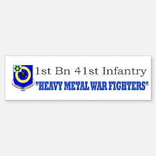 1st Bn 41st Inf Bumper Bumper Sticker