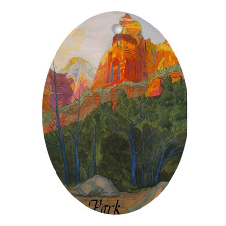 Forbidden Road's End, Zion Ornament (Oval)